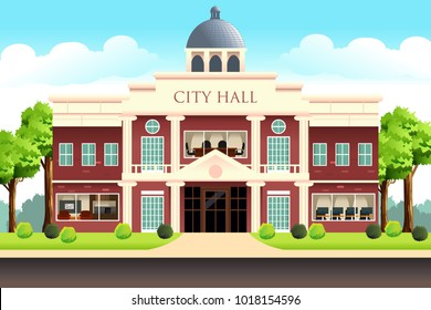A vector illustration of City Hall Building