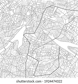 Vector illustration city map. Scheme of roads.