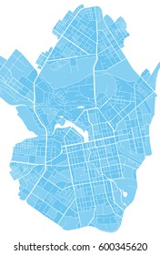 Vector illustration city map of Yekaterinburg.