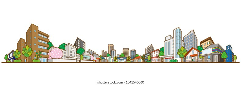 Vector illustration of the cityscape