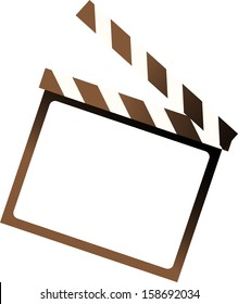 Vector illustration of a clapper board