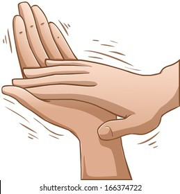 A vector illustration of clapping hands.