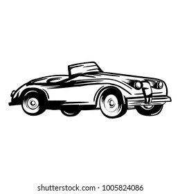 vector illustration of classic car