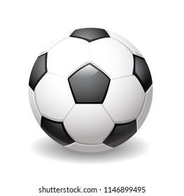 vector illustration of classic football ball