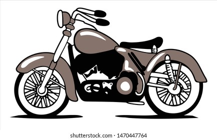 vector illustration of a classic motorcycle, EPS 10