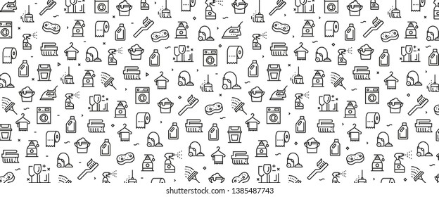 VECTOR ILLUSTRATION OF CLEANING ICON CONCEPT
