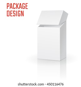 Vector Illustration of Clear Craft Box for Design, Website, Background, Banner. Retail Folding package Template. Fold pack Blank of cigarettes for your brand on it