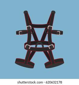 Vector illustration of climbing equipment