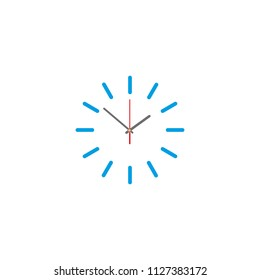 Vector illustration of clock face. eps 10