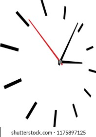 Vector illustration of clock face on white background.