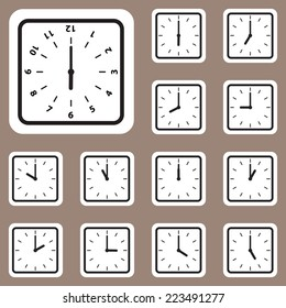 The Vector Illustration, Clock Icon for Creative and Design Work