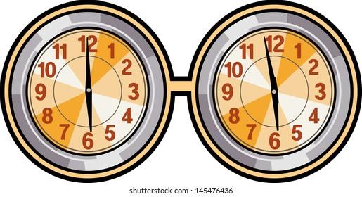 Vector illustration of clocks