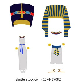 vector illustration clothing of egyptians