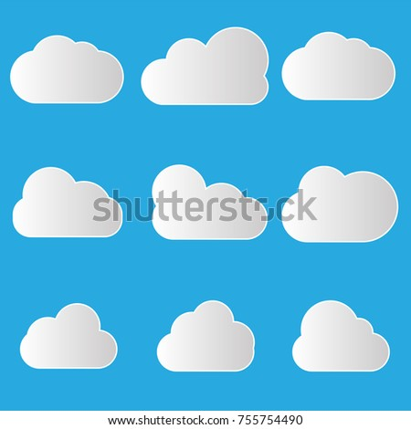 Vector Illustration Clouds Collection Background Cloud Stock Vector