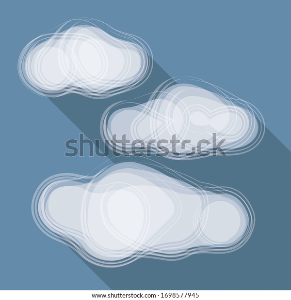Vector illustration, Clouds icon on blue background