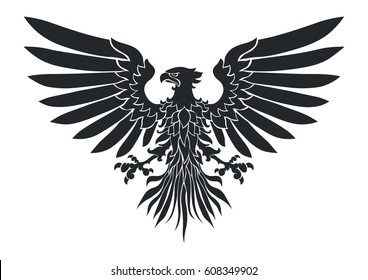 Vector illustration of coat-of-arms bird, Medieval Eagle of my own design