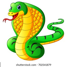 Vector illustration of Cobra snake cartoon