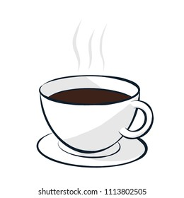 Vector Illustration of Coffee or Tea Beverage