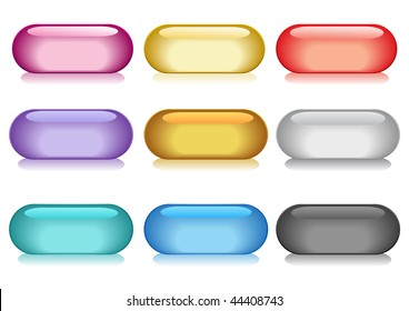 Vector illustration of collection of colorful buttons