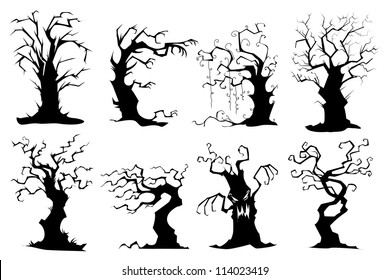 spooky tree images stock photos vectors shutterstock rh shutterstock com Scary Forest Clip Art Haunted Forest Clip Art