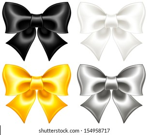 Vector illustration - collection of festive bows. Created with gradient mesh.