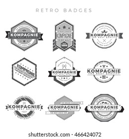 Vector illustration collection of retro badges and emblems.