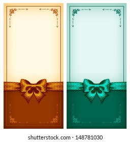 Vector illustration - collection of vintage greeting cards. Created with gradient mesh, transparency  and blending modes.