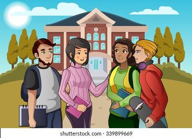 College Students Clipart, HD Png Download , Transparent Png Image - PNGitem