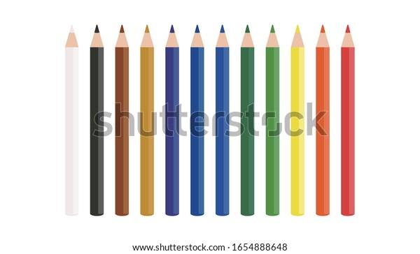 ベクターイラスト|色鉛筆