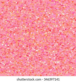Vector Illustration of a Colorful Background with Heart Confetti. Great for baby announcement, Valentine's Day, Mother's Day, Easter, wedding, scrapbook, gift wrapping paper, textiles.