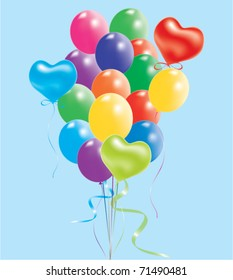 vector illustration of colorful balloons