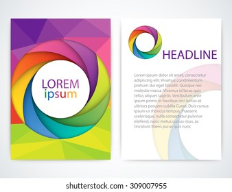Vector illustration of a colorful brochure.
