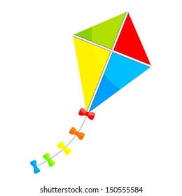 Vector illustration of colorful kite