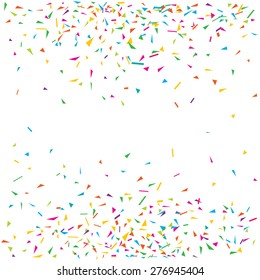 Vector illustration of a colorful party background with confetti and space for your text