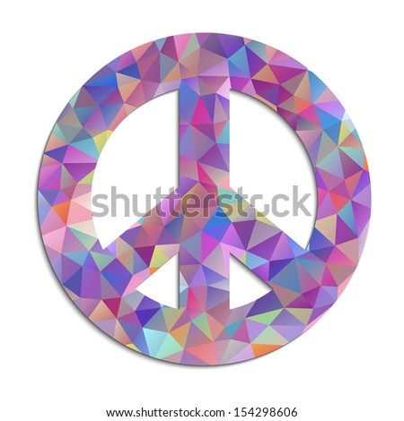 Vector Illustration Colorful Peace Symbol On Stock Vector Royalty