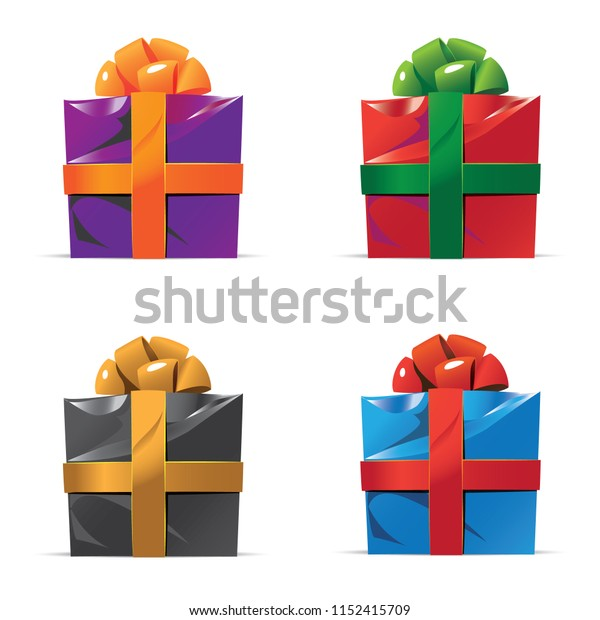 Vector illustration of colorful presents.