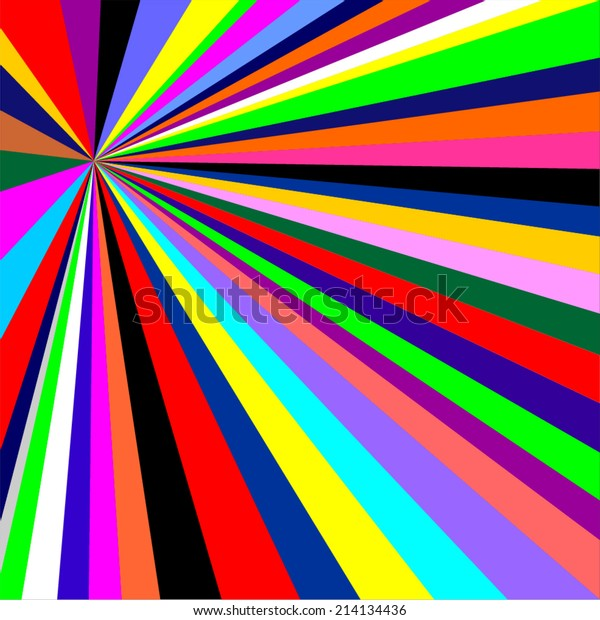 Vector Illustration Colorful Rainbow Abstract Background