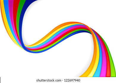 vector illustration of colorful swirly background