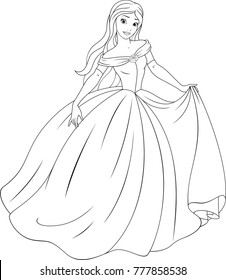 Cinderella Coloring Pages High Res Stock Images Shutterstock