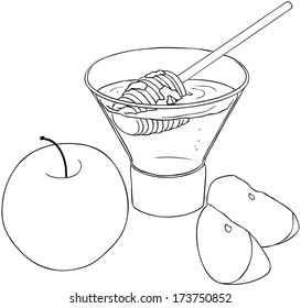 vector illustration coloring page honey 260nw