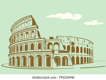 "Vector illustration of ""Colosseum"" in Rome"