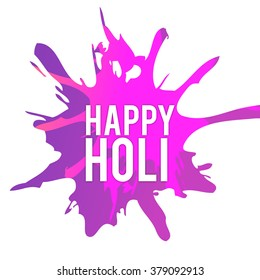 Vector illustration of colrful background for Indian festival Holi celebrations.