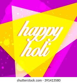 Vector illustration of colrful background for Indian festival Holi celebrations.