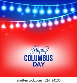 Vector illustration Columbus Day.