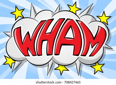 vector illustration of a comic sound effect wham