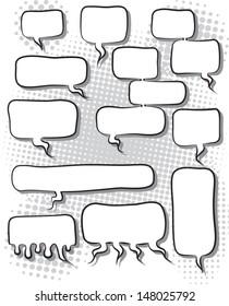 vector illustration of comic speech bubbles