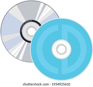 Vector illustration of compact disc.