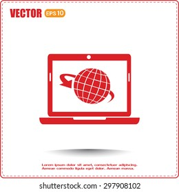 Vector illustration of a computer