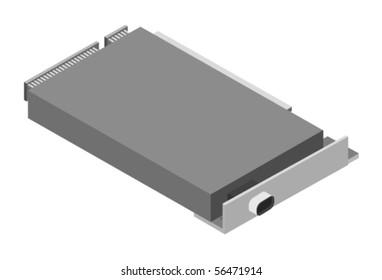 Vector illustration of computer board