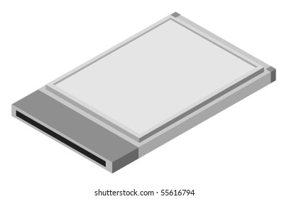 Vector illustration of computer card